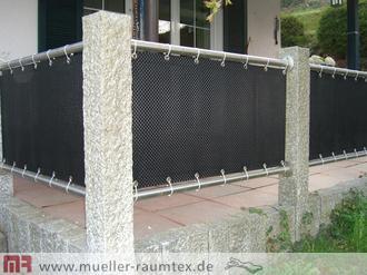 balkonbespannung sichtschutz windschutz, Garten ideen