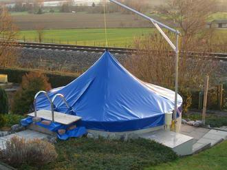 sonnenschutz schwimmbad gartenbad freibad sonnensegel. Black Bedroom Furniture Sets. Home Design Ideas