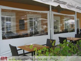 windschutz mit sonnensegel garten balkon terrasse. Black Bedroom Furniture Sets. Home Design Ideas